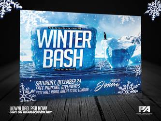 Winter Bash Horizontal Flyer Template by pawlowskiart