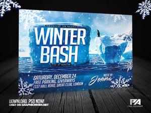 Winter Bash Horizontal Flyer Template