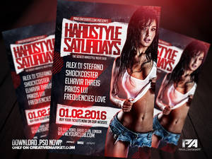 Hardstyle Saturdays Event Flyer Template
