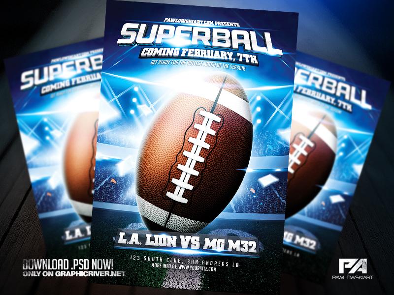 American Football Flyer Template by pawlowskiart