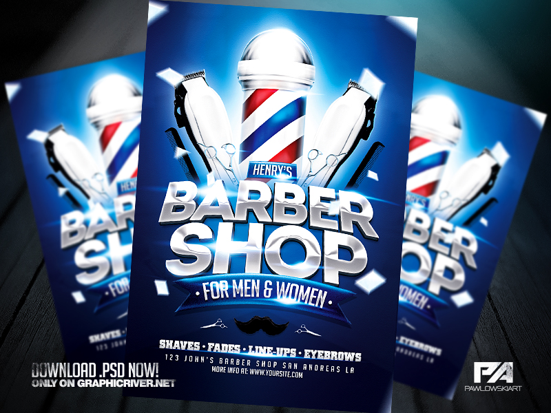 Barber Shop Flyer Template By Pawlowskiart On Deviantart