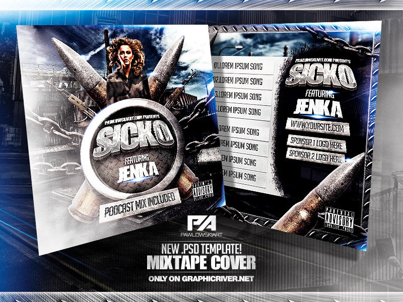 Music Mixtape Cover .PSD Template