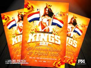 King's Day / KoningsDag Flyer Template (.psd)
