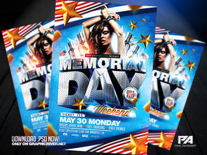 Memorial Day Weekend PSD Flyer Template