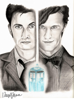 10th and 11th Doctor, Doctor Who by Ngrace80