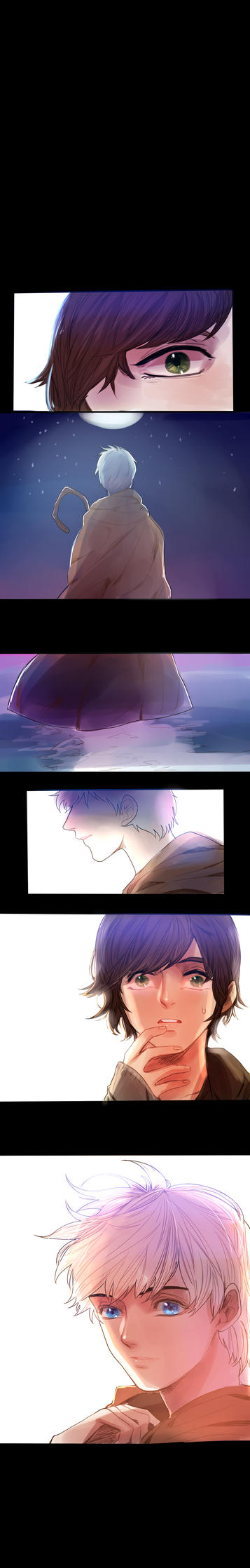 Jack frost and Hiccup! by hyechi