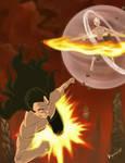 The Avatar vs The Phoenix King by Dark-Razvan