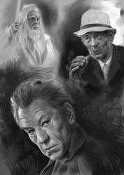 Sir Ian Mckellen studies by Dark-Razvan