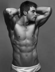 half naked guy study by Dark-Razvan