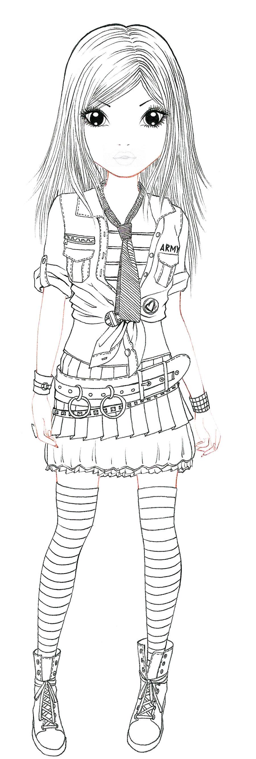 Army lineart by aya ichigo on deviantart - Dessin top model ...