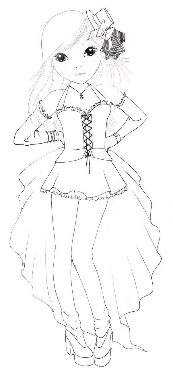 Top models Colouring Pages