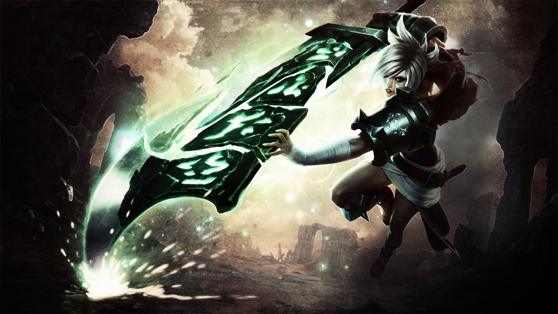League of Legends Riven Wallpaper by SlayorFX on DeviantArt