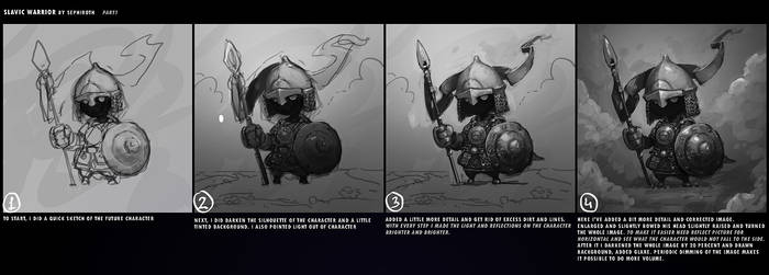 SLAVIC WARRIOR | Tutorial #1 by Sephiroth-Art