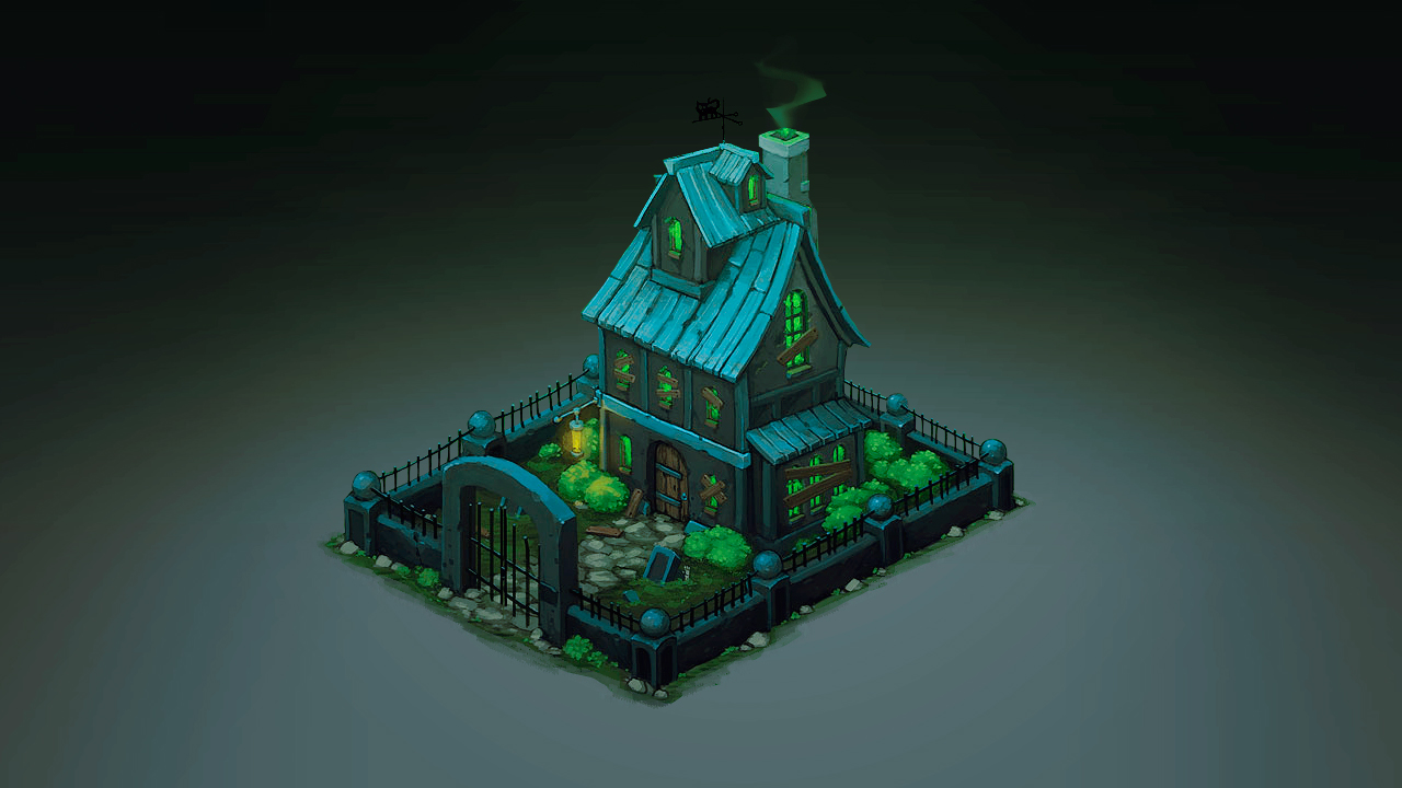 Isometric Ghost House