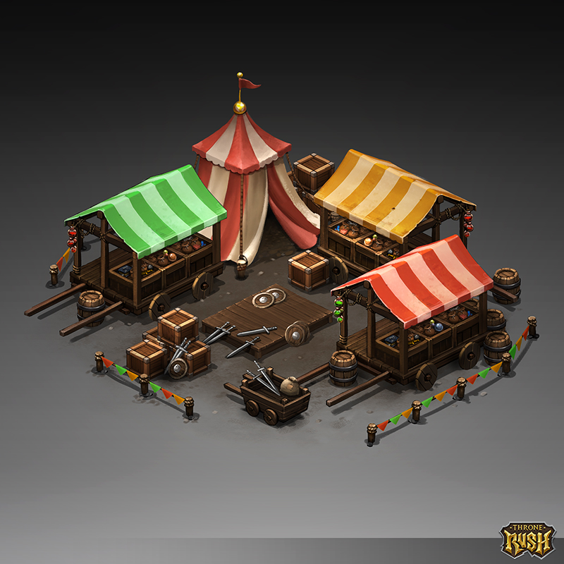 Isometric Marketplace by Sephiroth-Art