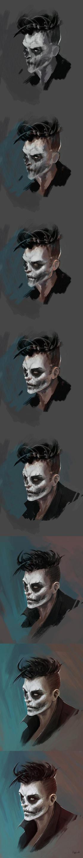 SkullFace Step by Sephiroth-Art
