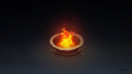 Isometric Fire Pillar by Sephiroth-Art