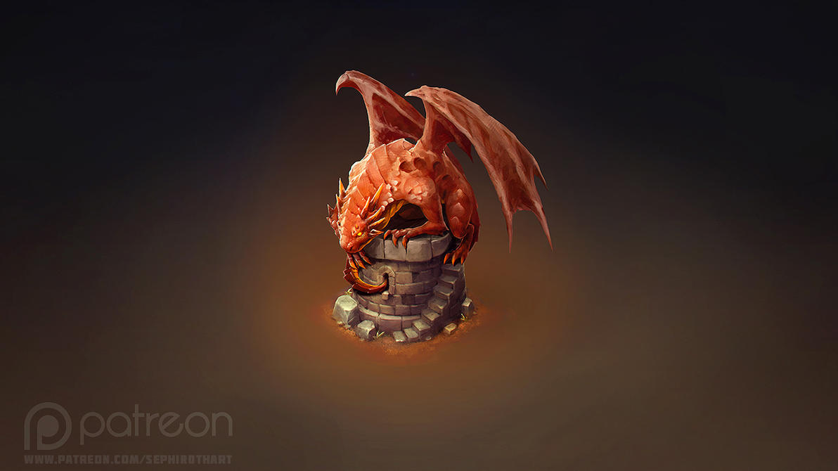 Isometric Dragon Tower by Sephiroth-Art