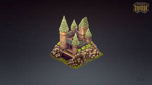 Isometric Hogwards Castle