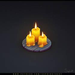 Isometric Candle
