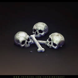 Isometric Scull and Bones by Sephiroth-Art