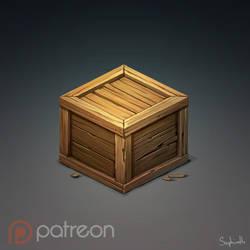 Isometric Wood Box