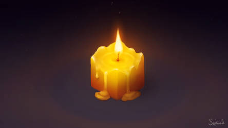 Isometric Candle by Sephiroth-Art