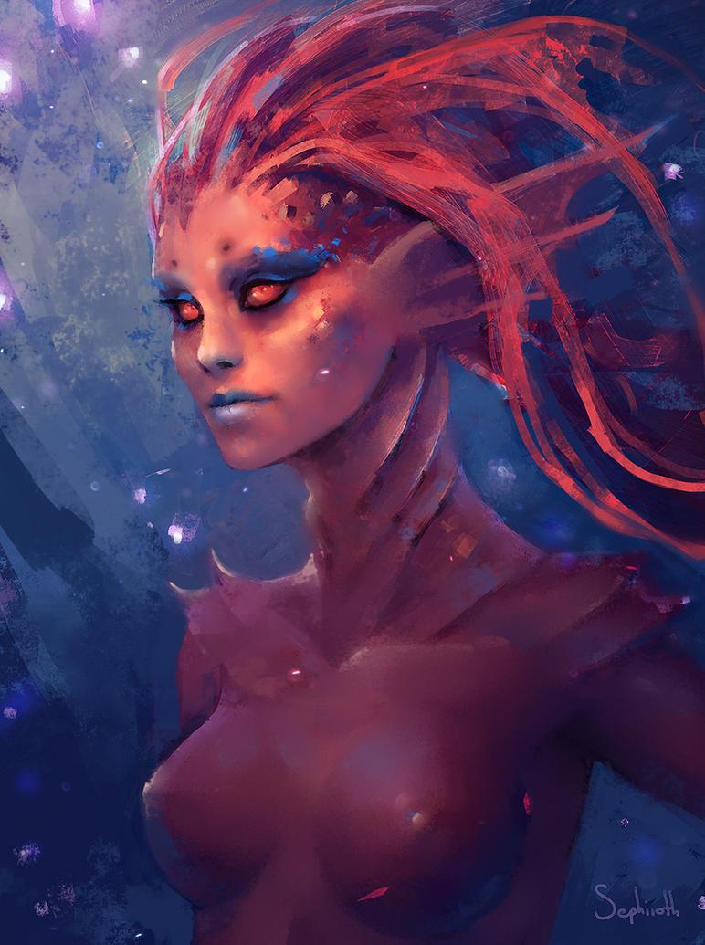 Fight Fish Mermaid by Sephiroth-Art