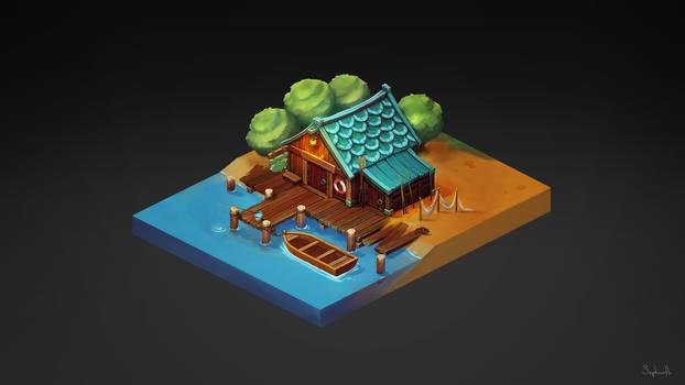 Isometric Fisherman House