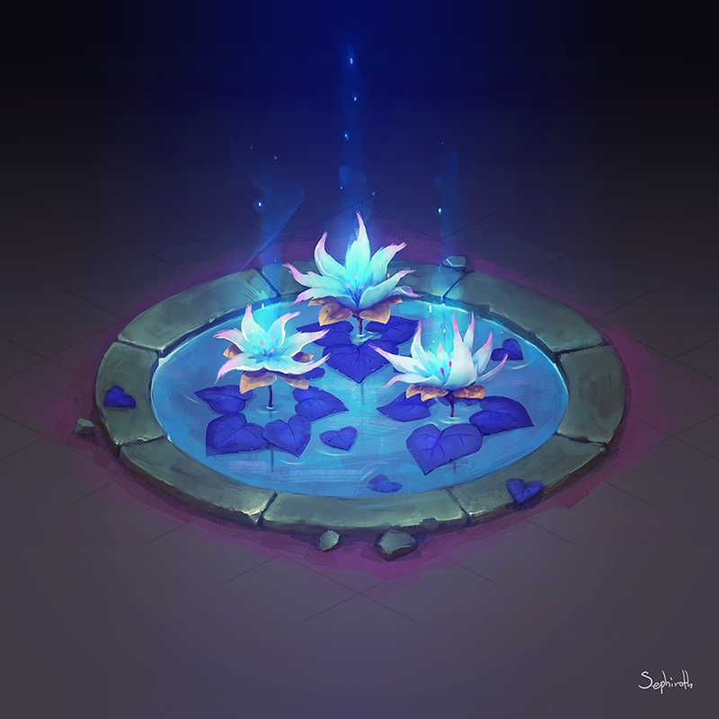 Isometric Water Lilly | video by Sephiroth-Art