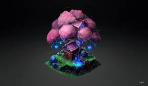 Isometric Elf Tree