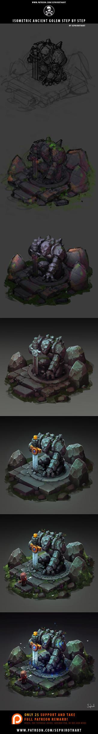 Isometric Golem Step-by-Step by Sephiroth-Art
