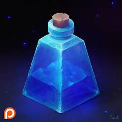 Isometric Blue Bottle by Sephiroth-Art