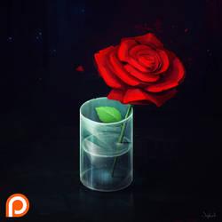 Isometric Rose in Vase by Sephiroth-Art