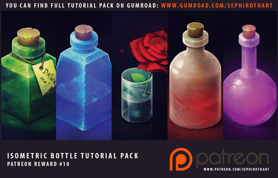Isometric Bottles Full Tutorial Pack by Sephiroth-Art