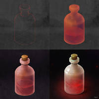 Isometric Red Bottle Step-By-Step