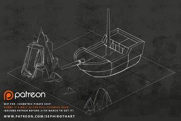 -Isometric Pirate Ship- WIP by Sephiroth-Art