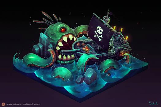Isometric Pirate Ship