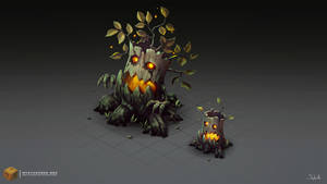Isometric Evil Trees