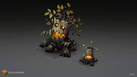 Isometric Evil Trees by Sephiroth-Art