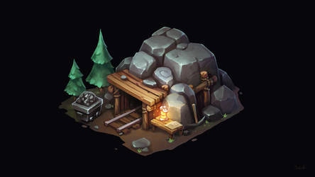 Isometric Mine Shaft
