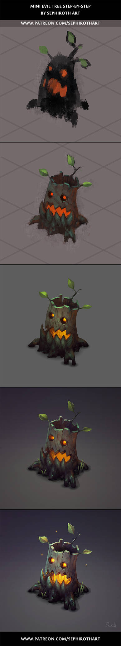 Mini Evil Tree stepbystep
