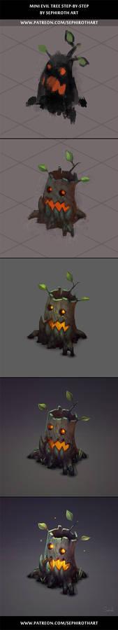 Mini Evil Tree stepbystep
