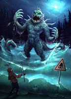 Lake Monster by Sephiroth-Art