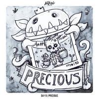 INKTOBER 2018 Day 9 - Precious by Sephiroth-Art