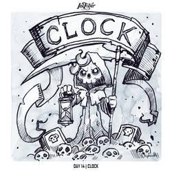 INKTOBER 2018 Day 14 - Clock