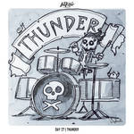 INKTOBER 2018 Day 27 - Thunder