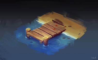 Isometric Fishing Bridge by Sephiroth-Art
