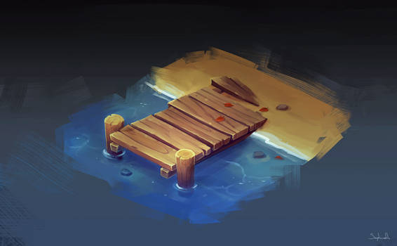 Isometric Fishing Bridge