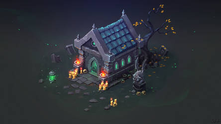Isometric Crypt by Sephiroth-Art